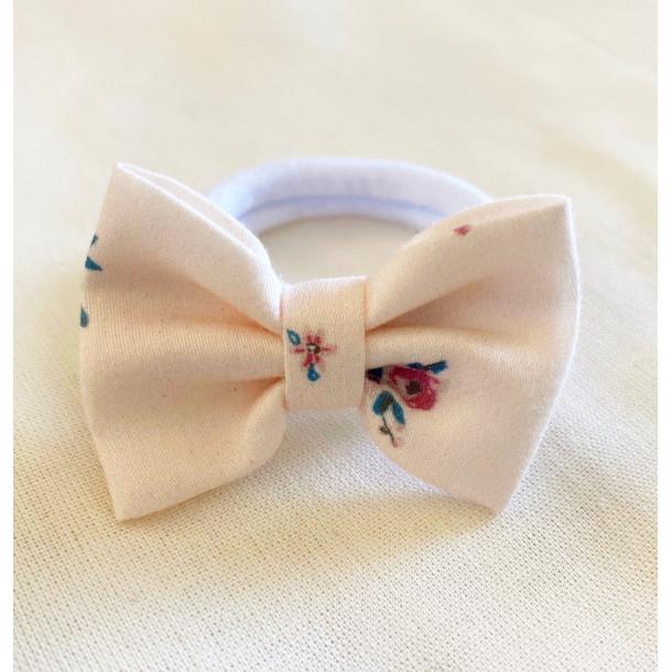 Chouchou à noeud fleuri